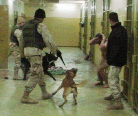 CORRECTION IRAQ ABU GHRAIB PRISON ABUSE DOGS